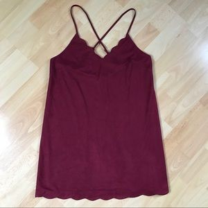Wine Slip Dress - Velvety Soft - Great for Anytime